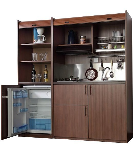 kitchenette 190 with small refrigerator & oven