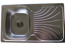 sink with drainer electric pearl